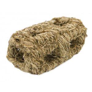 Gniazdo z siana podwójne zabawka/paśnik do transportera  19 cm PANAMA PET